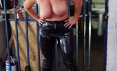 TAC Amateurs PVC Trousers In The Cage Pt2 315925 Not Quite Sure Why This Cage Was Here, But I Was Happy To Use It For A Shoot. Melody X