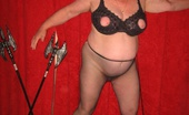 TAC Amateurs Nipple Bra Tease Girdlegoddess Is Such A Tease In Her Leopard Print Pants And Nipple Bra.Watch As I Get Down To My Pantyhose And Spread M