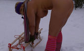 TAC Amateurs Nude In The Snow Pt2 When Snow Also Fall In My Home Town, I Have To Take The Snow Shovel And Work Around My House.