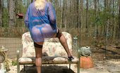 TAC Amateurs Blue Outfit Blue Outfit And An Outdoor Lounge - And Of All Things, A Matching Bright Blue Vibrator To Make My Pussy Hummmmmmm As I C