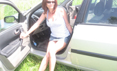 TAC Amateurs Car Piss Show & Gear Stick In My Pussy 318029 During Our Break I Posed For My Master In Front Of The Car And Did A Piss Show For Him. Then He Wanted Me To Ride The Ge