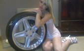 TAC Amateurs White Dolly & Handcuffs 318239 What Do You Get When You Cross Angel With A Pair Of Handcuffs And A Alloy Wheel. One Sexy Photo Shoot. By The Time I Was