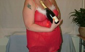 TAC Amateurs Christmas Serving I Am Ready In My Apron To Stuff The Turkey, But First A Bottle Of Champagne I Think.