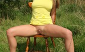 TAC Amateurs Kaz In A Barely Legal Mini Dress Kaz Sports A Tiny Yellow Mini Dress As She Sunbathes In The Beer Garden, But After Spotting A Couple Of Dishy Locals Get