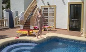 TAC Amateurs Barby Gets Hot By The Pool See Me Fucking Myself Hard And Fast At The Side Of Our Private Pool For Our Neighbours To See...