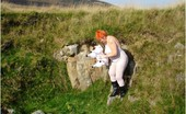 TAC Amateurs Dolly The Sheep In The Welsh Mountains With A White Bodystocking On And Dolly The Sheep.