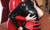 TAC Amateurs Barby & Claire In PVC Claire Came To Stay At My House And We Where Feeling Very Very Naughty, So To Get Our Guys Going We Put On Our PVC And G