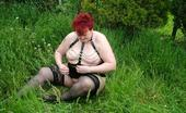 TAC Amateurs Chains Lots Of Super Outdoor Close Ups Of Me In My New Chain Basque, Very Horny