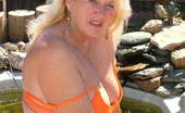 TAC Amateurs Bold And Brazen Bold And Brazen In Orange - Orange Shoes, Orange Mini-Skirt, Orange Top And Orange Bra And Panties - Boldly Taking It Al