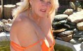 TAC Amateurs Bold And Brazen Bold And Brazen In Orange - Orange Shoes, Orange Mini-Skirt, Orange Top And Orange Bra And Panties - Boldly Taking It Al