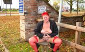 TAC Amateurs Red Stockings I Take These Everywhere, As I Am A Red Devil, And Luv To Wear Stockings In Public.