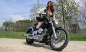 TAC Amateurs Motor Babe A Good Friend Of Mine Has A Really Hot Bike. Last Week He Invited Me To Make Hothorney Outdoor Pic With His Bike. It Was