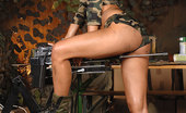 DDF Busty Eve Smile Hot Military Blond Babe Gets Herself Fucked By A Machine