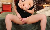 DDF Busty Jaye Rose Blazing Hot And Naughty Jaye Rose Using Dildo On Her Bed!