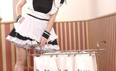 DDF Busty Karina Heart Karina Heart In French Maid Uniform Sets Her 34H Bells Free
