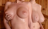 DDF Busty Dona Bell & Lucie Wilde Lucie Wilde &Amp; Dona Bell Lesbian Sex Video In The Sauna