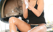 New Sensations Ashlynn Brooke A Rub-A-Dub-Dub Ashlynn Brooke In A Tub Soping Up Her Lovely Breasts