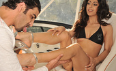 Footsie Babes Addison Dark Foot Fetish On Boat