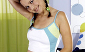 Just 18 Kathy Anderson0 Cute Teen In Pig Tails Gets Has Fun With Her Dildo