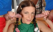 Just 18 Jennifer Love10 Cute Cheerleader Gets Banged By Two Soccer Players