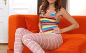 Hot Legs and Feet Kyla Fox5 Hot Teen Kyla Fox In Pink Pantyhose Plays With A Vibrator
