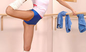 Hot Legs and Feet Leana9 Long Legged Dancer Leana In Leg Warmers Gives A Footjob