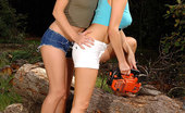 Hot Legs and Feet Zoe L Fox & Zuzana Z. 328054 Leggy Blondes Licking And Sucking Their Feets In The Woods