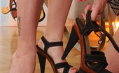 Hot Legs and Feet Ally Style & Jessica Rox Lesbian Brunette Babes Ally & Jessica Have Foot Fetish Sex