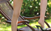 Hot Legs and Feet Shannon Reid Shannon Reveals Her French Pedicure Through Snug Tights