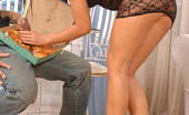 Hot Legs and Feet Jane F. Luscious Brunette Harlet Jane Enjoys Herself A Hard Cock