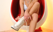 Hot Legs and Feet Teena Lipoldino Long Legged Beauty Teena Lipoldino Poses In A Lucky Egg