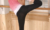 Hot Legs and Feet Nicole Smith Ballerina Nicole Smith Tiptoes & Teases In Pink Leg Warmers