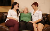 Old And Young Lesbian Three old and young lesbians making out