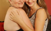 Old And Young Lesbian Hot babe and her way older lesbian lover go wild