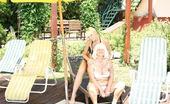 Old And Young Lesbian Old and young lesbians playing in the sun