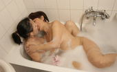 Old And Young Lesbian Mature lesbian dates a younger girl