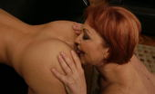 Old And Young Lesbian Hot young babe lezzin up three older mature sluts