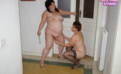 Old And Young Lesbian Chubby mature lesbain takes a chubby teen