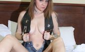 Homegrown Video Rookie Tattooed Biker Babe Rookie Struts Her Stuff