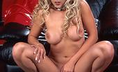 Danni.com Sky Lopez Curly Blonde Sky Lopez In Red Latex Dress Shows Off Her Shapely Bombs And Pink Hole
