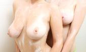 Louisa May Louisa And Brook Having Fun In The Shower