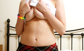 Louisa May Big Tits Louisa Teasing In Her Bed With A Lollipop