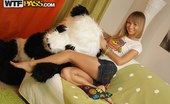 Panda Fuck Kylie Funny Toys Porn With Pretty Blonde