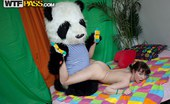 Panda Fuck Michele Hot Horny Girls Have Fun With Big Dildos