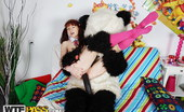 Panda Fuck Selena Hot Schoolgirl Teen Gets Her Muff Fucked By A Panda Strapon