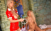House Of Taboo Carol & Jenna Lovely Busty Nurse Carol Examines Jenna And Gives Her An Enema