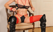 House Of Taboo Ariel1 Nasty Wild Hot Blonde Ariel Poses In Latex &Amp; Gets Naked