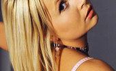 House Of Taboo Blond Aloha & LaTaya Roxx Kinky Lesbians Aloha &Amp; Roxx In Bound Spanking Set In Latex
