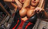 House Of Taboo Carol & Jannete Horny Lesbian Babes Carol &Amp; Bound Jannete Spanking In Latex