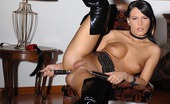 House Of Taboo Amabella Black-Haired Girl Amabella Masturbating In Latex With Toy